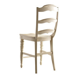 Hooker Furniture - Beaufort House Ladderback Counter Stool - Light - White glove, in-home delivery included!  The Beaufort House collection is crafted from rubberwood and poplar solids with maple veneers.  It is the perfect amount of style, grace and comfort.