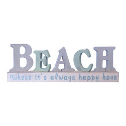 Handcrafted Nautical Decor - Wooden Beach Letters Sign 13'' Beach Signs Decor Coastal Decorating - Immerse yourself in the warm ambiance of the beach, imagining golden sands between your toes as you listen to the gentle sound of the surf, while you enjoy Handcrafted Nautical Decorees fabulous Beach Signs. Perfect for welcoming friends and family, or to advertise a festive party at your beach house, bar, or restaurant, this Wooden Beach Letters Sign 13'' will brighten your life. Place this beach sign up wherever you may choose, and enjoy its wonderful style and the delightful beach atmosphere it brings. ----    Only high quality wood is used in construction--    Handcrafted and highly detailed--    Meticulously painted beach theme--