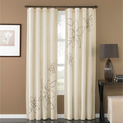 CHF Industries - CHF Industries Serenity 84 in. Poletop Curtains - 1Z44200GBL - Shop for Curtains and Drapes from Hayneedle.com! The CHF Industries Serenity 84 in. Poletop Curtains brings a soft touch of spring to your living space. Featuring an asymmetrical floral design this flappable curtain panel is crafted of 100% polyester that is machine washable for your convenience. About CHF IndustriesCHF Industries based in New York is known for its home textile products and is the largest private-label supplier of retail-specific bedding products. CHF offers a diverse range of window products like panels valances shades kitchen tiers and even window hardware. CHF innovates with fashionable solutions such as energy-efficient interlined window panels taking steps to introduce organic products to protect the environment.