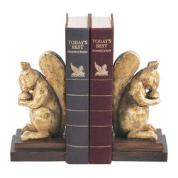 Sterling Industries - Pair Acorn Lover Bookends - Pair acorn lover bookends by Sterling Industries It brings your home a touch of elegance with traditional design.