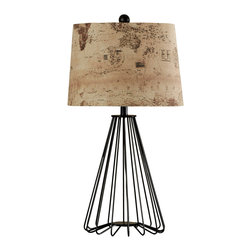 Stylecraft - Stylecraft L31939DS Iron Cage Table Lamp - Stylecraft L31939DS Iron Cage Table Lamp