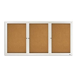 Quartet Aluminum Enclosed Cork Bulletin Board for Indoor Use - 72 x 36 in. - About QuartetQuartet knows that you just have to write it down or you'll forget. They've been in the whiteboard, bulletin board, and chalkboard business since 1945 and have perfected the art of the perfect surface. Today, they boast a full line of visual communication products used at home, in the office, in hospitals, and in schools across the country. When you're looking for a product to help you communicate, you're looking for Quartet.