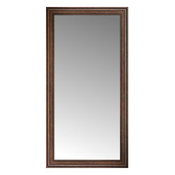 """Posters 2 Prints, LLC - 35"""" x 67"""" Arqadia Bronze Traditional Custom Framed Mirror - 35"""" x 67"""" Custom Framed Mirror made by Posters 2 Prints. Standard glass with unrivaled selection of crafted mirror frames.  Protected with category II safety backing to keep glass fragments together should the mirror be accidentally broken.  Safe arrival guaranteed.  Made in the United States of America"""