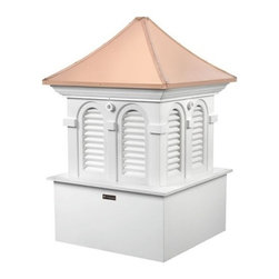 Good Directions Smithsonian Alexandria Cupola - It's the perfect complement to your home or two-car garage. Our expertly crafted Alexandria louvered cupola carries the logo of the highly prestigious Smithsonian Collection by Good Directions. It's made in the USA from durable white PVC-vinyl for many years of enjoyment. The pagoda-style polished copper roof adds an architectural element of beauty. Includes an easy-to-follow installation guide. For a really distinctive finishing touch, add a Good Directions weathervane or finial!