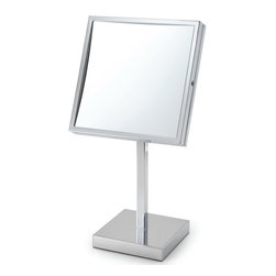 Electric Mirror - EM88 Makeup Mirror - Table LED make-up mirror available in polished chrome finish. 2700K color temp. Features 5X magnification. LED module included. 8W x 8H.