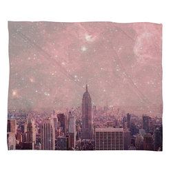 DENY Designs - Bianca Green Stardust Covering New York Fleece Throw Blanket - This DENY fleece throw blanket may be the softest blanket ever! And we're not being overly dramatic here. In addition to being incredibly snuggly with it's plush fleece material, it's maching washable with no image fading. Plus, it comes in three different sizes: 80x60 (big enough for two), 60x50 (the fan favorite) and the 40x30. With all of these great features, we've found the perfect fleece blanket and an original gift! Full color front with white back. Custom printed in the USA for every order.