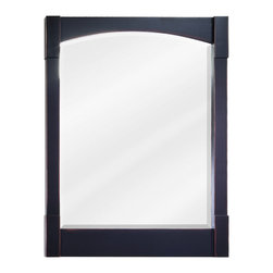 "Hardware Resources - Elements Mirror - 26"" x 34"" Aged Black mirror with beveled glass"