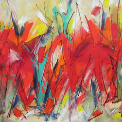 """Modern Art Thirty-Four"" (Original) By Lynne Taetzsch - I Am In Love With Color, Movement, And Energy.  I Paint With Passion, Standing Up At An Easel, Listening To Loud Music.  I Work Spontaneously To Generate Excitement And Action."