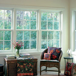 Double Hung Windows - These double hung windows make this sun room a great space for summer!