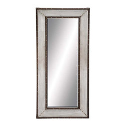 "BZBZ86871 - Metal Wall Mirror with Thick and Broad Frame - Metal Wall Mirror with Thick and Broad Frame. Ideal to check your reflection, this mirror can be fixed to the walls of your living room. It comes with the following dimensions 26"" W x 2"" D x 59"" H."