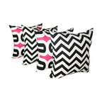 Land of Pillows - Premier Prints Embrace Black Candy and Zig Zag Black Candy Throw Pillows Set, 18 - Fabric Designer - Premier Prints