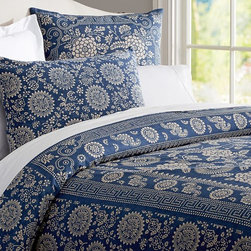 Calista Floral Duvet Cover - Navy and white bedrooms are so crisp and classic — think Ralph Lauren.
