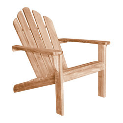 Douglas Nance - Set of 2, Douglas Nance Lakeside Adirondack Chair - The Douglas Nance philosophy about teak furniture is different than most. While all around we see designs and styles that minimize the use of teak wood by substituting with aluminum or adding sling fabric material, we have gone the other direction. Slim and sleek won't be found in descriptions of our furniture. Instead you'll read masterful, bold and rock solid. Everything in the design of our styles has been about making a statement with teak. We've added thickness to our parts to give unheard of stability and strength. We've also added extra dimension to provide more room and comfort than any teak designs we have ever seen.