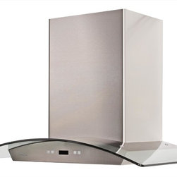 Cavaliere - Cavaliere-Euro SV218DeI30 Island Mount Range Hood - 218W Island Mounted Range Hood with 6 Speeds, Timer Function, LCD Keypad, Grease Filters, and Halogen Lights