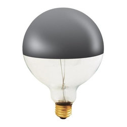 Bulbrite - Globe Dimmable Light Bulbs - 6 Bulbs - One pack of 6 Bulbs. 120 V E26 base incandescent G40 bulb type. 360 degree beam spread. Mirrored bulb to reflect light back towards the base. Perfect for open fixtures, pendants, restaurant and retail lighting. Wattage: 100 W. Color temperature: 2700 K. Average hours: 1500. Color rendering index: 100. Half chrome color. Maximum overall length: 6.75 in.