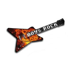 Alumapic, Boys Rock, Original Artwork Guitar with Flames, Aluminum, 18 Inches By - Alumapic