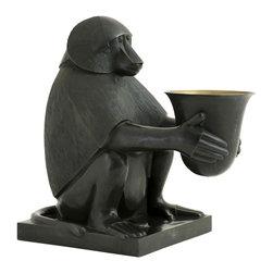 Eichholtz Oroa - Bronze Monkey  Limited Edition Candleholder - Solid bronze statue - Candleholder