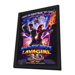 The Adventures of Shark Boy & Lava Girl in 3-D 11 x 17 Movie Poster - Style A - The Adventures of Shark Boy & Lava Girl in 3-D 11 x 17 Movie Poster - Style A - in Deluxe Wood Frame.  Amazing movie poster, comes ready to hang, 11 x 17 inches poster size, and 13 x 19 inches in total size framed. Cast: George Lopez