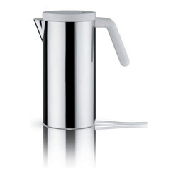 """Alessi - Alessi """"Hot.It"""" Electric Kettle, White - This electric kettle is made of 18/10 stainless steel mirror polish."""