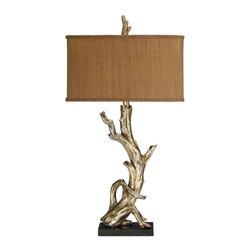 Dimond Lighting - Dimond Lighting 91-840 Driftwood Silver Leaf Table Lamp - Dimond Lighting 91-840 Driftwood Silver Leaf Table Lamp
