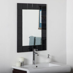 Decor Wonderland - Montreal Modern Black Bathroom Wall Mirror - 24W x 32H in. - SSM414-1B1 - Shop for Bathroom Mirrors from Hayneedle.com! The Montreal Modern Black Bathroom Wall Mirror - 24W x 32H in. reflects your personal style in more ways than one. This dramatic addition to your lavatory decor is inspired by European contemporary design and features a vast surface area surrounded by 24 black beveled mirrors that'll look great above your vanity. The mirror also comes with a double-coated silver backing with seamed edges and mounting hardware for hanging horizontally as well as vertically.About Decor Wonderland of USDecor Wonderland US sells a variety of living room and bedroom furniture mirrors lamps home office necessities and decorative accessories. Decor Wonderland strives to add variety to their selection so that every home is beautifully and perfectly decorated to suit their customer's unique tastes.