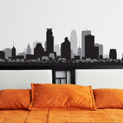 Minneapolis Minnesota Skyline Vinyl Wall Decal or Car Sticker SS103EY; 72 in. - Vinyl Wall Decals are an AWESOME way to bring a room to life!