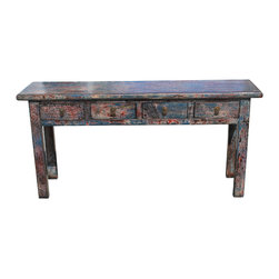 Mortise & Tenon - Hannigan Console - A very colorful asian inspired one of a kind console
