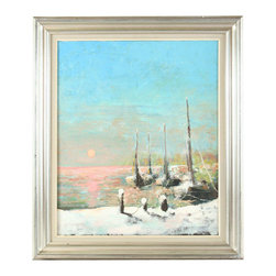 Hormans - Consigned Vintage Framed Oil Painting Hormans Sunset - Product Details