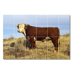 Picture-Tiles, LLC - Farm Animals Photo Wall Tile Mural 7 - * MURAL SIZE: 32x48 inch tile mural using (24) 8x8 ceramic tiles-satin finish.