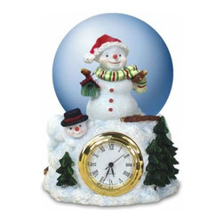 WL - 50mm Two White Snowmen and Two Green Trees in Snow Table Clock - This gorgeous 50mm Two White Snowmen and Two Green Trees in Snow Table Clock has the finest details and highest quality you will find anywhere! 50mm Two White Snowmen and Two Green Trees in Snow Table Clock is truly remarkable.