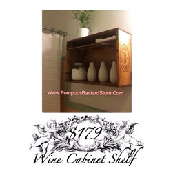 Vintage French Wine Cabinet Shelf By OpuluxeLtd.™ - Vintage French Wine Cabinet Shelf By OpuluxeLtd.™