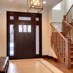 Craftsman Collection (Custom Solid Wood Doors) - Custom Entry Door with Transom and Sidelites