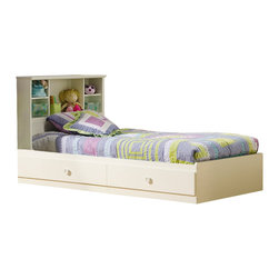 South Shore - South Shore Sand Castle Twin Bookcase Bed Set in Pure White Finish - South Shore - Beds - 3660213PKG - South Shore Sand Castle Twin Bookcase Bed Set in Pure White Finish