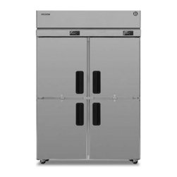 "Hoshizaki - Professional Series RFH2-SSB-HD 55"" 22.3 Cu. Ft. Freestanding Side-by-Side  Refr - Professional Series RefrigeratorFreezer Dual Temp Reach-in Two-Section Self-Contained freezer on right stainless steel exterior  interior standard depth hinged half doors w6 standard shelves 4 6 heavy duty legs wstainless steel feet R-404A Refrigeran..."