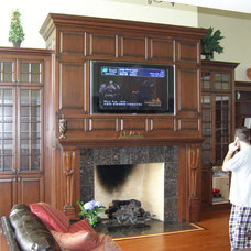 Traditional Family Room by Amish Custom Kitchens