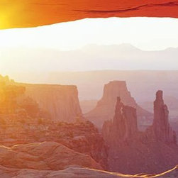 Walls 360, Inc. - Sunrise Mesa Canyonlands National Park Utah Panoramic Fabric Wall Mural - Transform your empty walls with Walls 360's premium, repositionable wall graphics.
