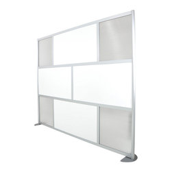 "LOFTwall - LOFTwall Room Partition LW83 - The LOFTwall Room Partition LW83 is three panels tall and 100"" wide. Perfect for creating privacy within a larger room, this room divider is available in a variety of mix-and-match panel colors. Made from aluminum with plastic panels."
