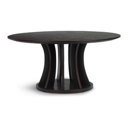 Zuri Furniture - Aziz Dark Espresso Finish Coffee Table - Bold in its sculptural design the Aziz coffee table will make the perfect statement in your living room.