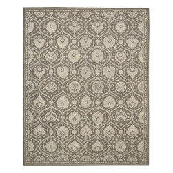 "Nourison - Nourison Regal REG04 (Cobble, Stone) 5'6"" x 8'6"" Rug - This is Nourison's premier handmade wool collection and features intricately woven traditional patterns exquisitely hand carved with generous portions of silk. Elegant colors, classic designs, subtle tones and unbelievable texture define these magnificent rugs. The Regal collection sets a new standard in quality and beauty that rivals the world's finest heirloom rugs and is sure to be the centerpiece of any room."