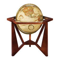 Replogle - San Marcos Desktop World Globe - The San Marcos world globe is a part of the Frank Lloyd Wright Collection Globes.