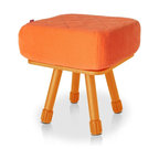 Fatboy - Fatboy Krukski Black / Fatboy Tablitski, Orange/Orange - Fatboy has created the perfect marriage...in a stool. With the sturdy frame of the Tablitski and customizable seating of the Baboesjka, you can feel free to make me your own. Just worry about where everyone else is going to sit. (We have solutions for that too!)