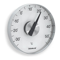 Blomus - Grado Thermometer with Wall Mount - Celsius - It may all be a matter of degrees. But when you want an exact reading (in Celsius or Fahrenheit) of the temperature outside, this is the thermometer for you. Maybe being a know-it-all isn't so bad after all.