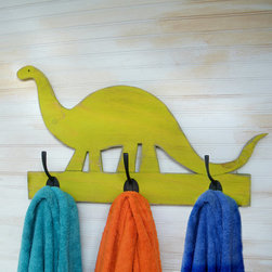 Dinosaur Towel Hook by Slippin' Southern - OK, so it's a towel rack, but I think it would be brilliant in a bedroom to hang robes, jackets or backpacks.