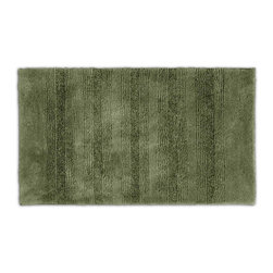 None - Westport Stripe Beach Grass Washable Bath Rug - Classic and comfortable, the Westport Stripe bath collection adds instant luxury to your bathroom, shower room or spa. Machine-washable, the always plush nylon holds up to wear, while the non-skid latex makes sure this green rug stays in place.