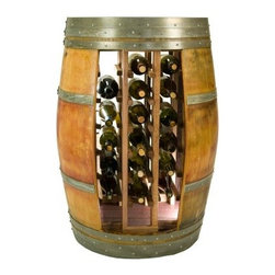 Napa East Whole Barrel 28 Bottle Wine Rack - This wine rack and table combination – officially known as the Napa East Whole Barrel 28 Bottle Wine Rack – was constructed from a single whole wine barrel. It's great as a stand-alone table as well as a unique 28-bottle storage rack. Either way, you're sure to get compliments on this distinct use of a reclaimed oak wine barrel.About Napa EastNapa East creates wine-inspired furnishings that are made from actual reclaimed oak wine barrels. Their barrels began life handcrafted with pride from the finest French and American Oaks, and Napa East continues that theme when they hand-select barrels and giving them new life as beautiful one-of-a-kind works of art.
