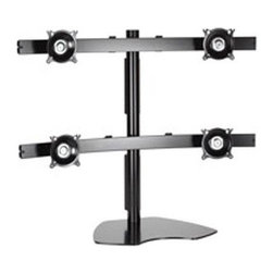 "Chief Mfg. - 2x2 Widescreen Quad Monitor Ta - KTP445B 2x2 Array Widescreen Quad Monitor Table Stand Provides a rock solid  free-standing solution for graphic designers  broadcasters and other users who work with multiple small flat panel monitors and is Compatible with monitors up to 30"" wide.  Features include Centris Technology provides smooth  fingertip tilt in all directions  Heavy-duty  solid steel base and oversize pole for unmatched stability  Independent adjustment of each screen for proper ergonomic alignment and is VESA  75 x 75 mm and 100 x 100 mm compatible -  Black  This item cannot be shipped to APO/FPO addresses. Please accept our apologies."