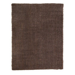 Anji Mountain - Everest Chocolate Jute Rug - 5' x 8' - Jute brings a magnificent, chunky texture to any space. These rugs are expertly handloom-woven by skilled weavers who employ a variety of traditional techniques to create these simply beautiful styles. Jute fibers exhibit naturally anti-static, insulating and moisture regulating properties. It is predominantly farmed by approximately four million small farmers in India and Bangladesh and supports hundreds of thousands of workers in jute manufacturing (from raw material to yarn and finished products).