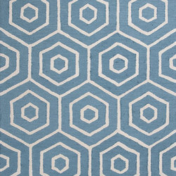 """KAS - KAS Dimensions 904 Concentro (Turquoise) 5' x 7'6"""" Rug - This Hand Tufted rug would make a great addition to any room in the house. The plush feel and durability of this rug will make it a must for your home. Free Shipping - Quick Delivery - Satisfaction Guaranteed"""