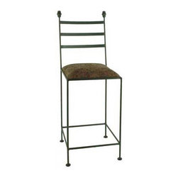 "Grace - 30"" Iron Collar Barstool - Features: -Painted according to your choice of metal finish .-Ships fully assembled .-Dimensions: 16"" W x 19"" D x 49"" H .-Suited for Residential use only. About Grace Collection: Grace Manufacturing is a metal and wrought iron furniture manufacturing company located in Rome, GA. The company has been in business for 25 years and continues to employ skilled artisans and craftsmen. In addition to their state of the art manufacturing equipment they still assemble and finish many products by hand. Many items in the Grace Collection are fully hand made or hand painted. With products ranging from barstools, counter stools, and dinettes to wrought iron beds, hanging potracks, bakers racks and more, Graces line meets all professional and home needs. By implementing unique styles and ideas to traditional products, Grace has created an exceptional balance between creativity and practicality. Their design styles range somewhere between whimsical, neo classic and traditional, thus creating a truly astonishing decor for any inside space."