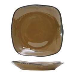 Tuxton - Artisan 8 3/8 x 6 7/8 x 1 1/2 Ellipse Plate Red Rock - Case of 12 - Each piece looks and feels as if it was handthrown creating a rustic and unique presentation. The lush vibrant glazes react differently with each firing so every piece is truly an original. Available in three colors inspired by the deserts of California: Mojave Night Sky and Red Rock.